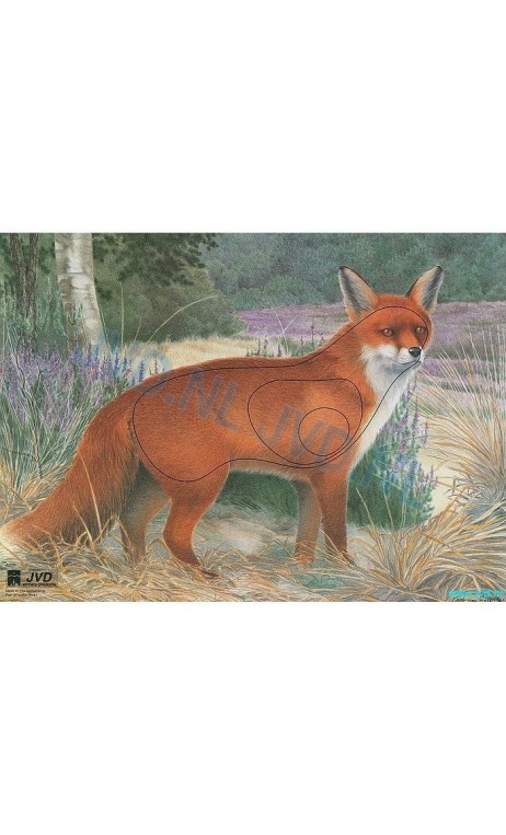 Target Paper Animals FOX JVD Distribution - Ulysses archery - equipment - accessorie -