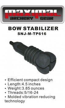 Hunting stabilizer Shorty Rubber Black MAXIMUM