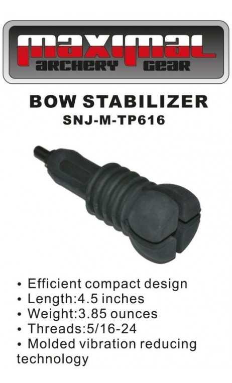 Stabilisateur Chasse 3D Court Rubber Black MAXIMAL - ULYSSE ARCHERIE