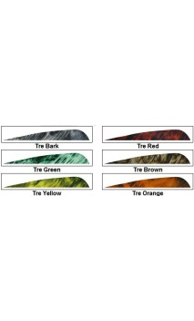 "parabolic Natural Feather 5 ""camo Gateway Feather LW - Ulysses archery - equipment - accessorie -"