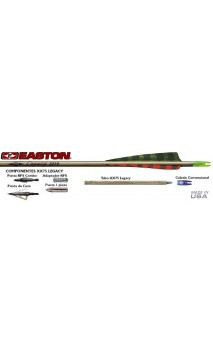 Tube Legacy XX75 Traditionnel Aluminium EASTON ARCHERY  - ULYSSE ARCHERIE