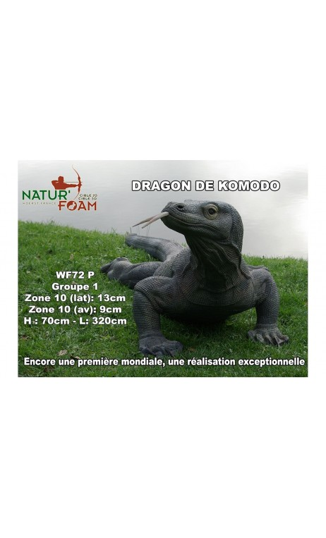 Cible Animal 3D Dragon de Komodo NATUR' FOAM - ULYSSE ARCHERIE