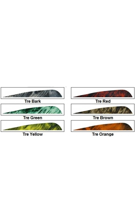 "Feather Parabolic Natural 4 ""camo GATEWAY FEATHERS RW - Ulysses archery - equipment - accessorie -"