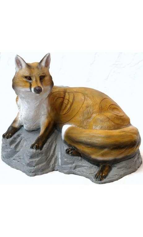 3D target Fuchs Liegen auf Felsen SRT TARGET - ULYSSES ARCHERY - Ulysses Bogenschießen