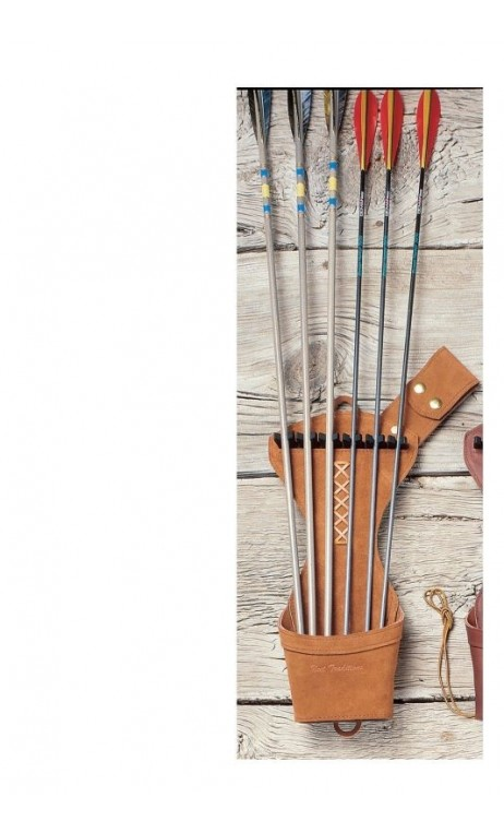 Carquois Chasse Traditionnel Daim NEET ARCHERY - ULYSSE ARCHERIE