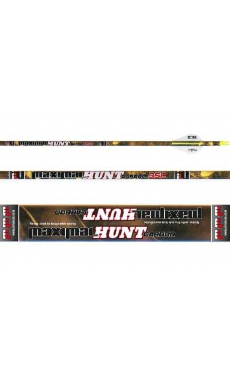 Lotto 12 frecce da caccia Hunt Carbon MAXIMAL