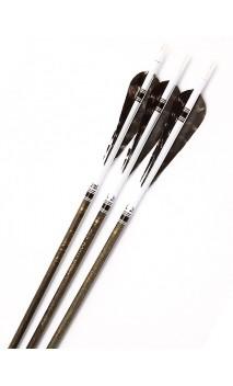 Flecha de carbono tradicional Black Wood Win & Win Negro - ARQUERÍA DE ULYSSE - ULISES CON ARCO