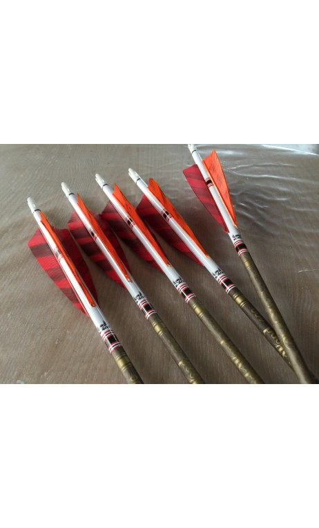 Carbon arrow Black Wood red Win & Win Black - Ulysses archery - equipment - accessorie -