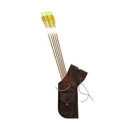 Hip tradicional de la aljaba aljaba BEARPAW marrón oscuro - ARQUERÍA DE ULYSSE - ULISES CON ARCO