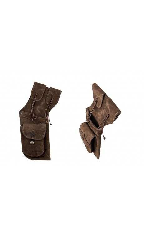 aljaba de cadera tradicional Field Piel de ante marrón oscuro Buck Trail - ARQUERÍA DE ULYSSE - ULISES CON ARCO