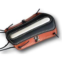Orange and black leather armguard VLBBTAB - Ulysses archery - equipment - accessorie -