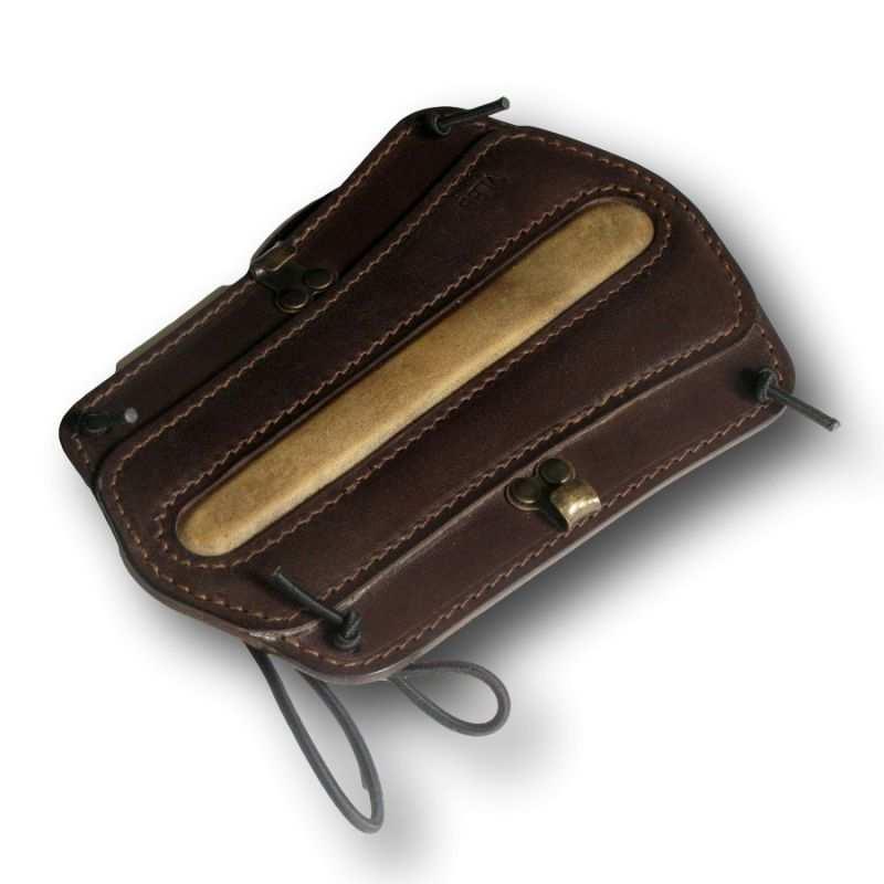 Protector de brazo de cuero marrón completo VLBBTAB - ARQUERÍA DE ULYSSE - ULISES CON ARCO