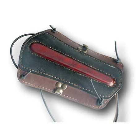 Protège bras en cuir de couleur marron et noir VLBBTAB