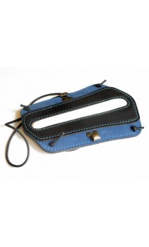 Protège bras en cuir de couleur bleu et noir VLBBTAB