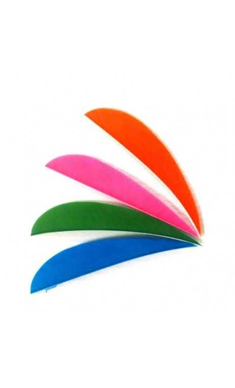 """pluma natural 3"""" color sólido parabólico Trueflight Feathers"""