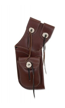 Carquois traditionnel de hanche Field ANTIQUE Brown en cuir BUCK TRAIL ARCHERY