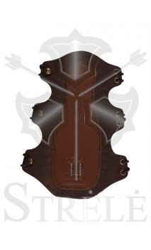 STRELE natural leather armguard