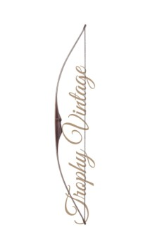"""Arco tradizionale Longbow TROPHY VINTAGE 68 """"FALCO ARCHERY - Tiro con l'arco di Ulisse - ULISSE TIRO CON L'ARCO -"""