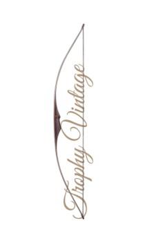"""Arco tradizionale Longbow TROPHY VINTAGE 64"""" FALCO ARCHERY - Tiro con l'arco di Ulisse - ULISSE TIRO CON L'ARCO -"""