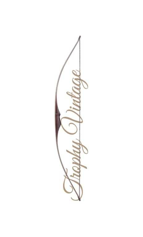 """Arco tradizionale Longbow TROPHY VINTAGE 70"""" FALCO ARCHERY - Tiro con l'arco di Ulisse - ULISSE TIRO CON L'ARCO -"""
