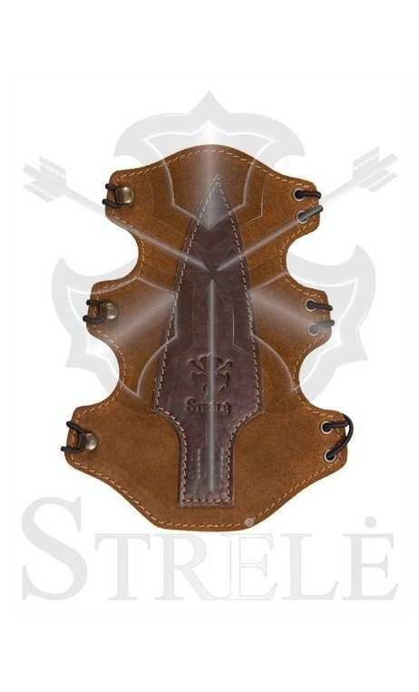 """Protège bras """"CHINOOK"""" en cuir naturel STRELE"""