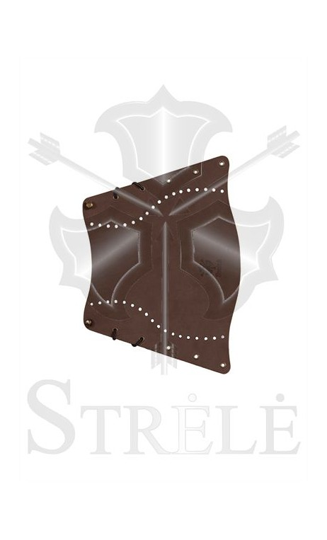 Traditional STRELE leather arm guard - Ulysses archery - equipment - accessorie -