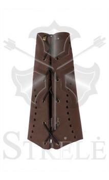 Protège bras traditionnel en cuir STRELE  - ULYSSE ARCHERIE