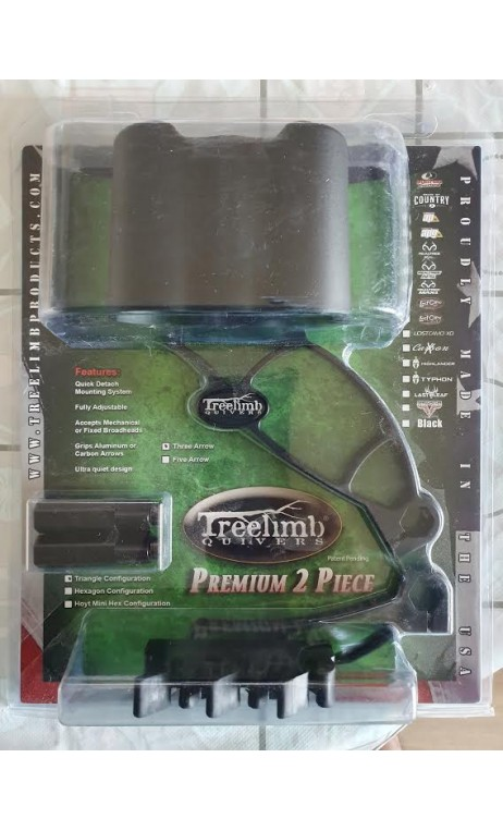 Bogenköcher 2 Stück 3 Pfeile TREELIMB QUIVERS Ausrüstung für Ihren Jagdbogen für traditionelles, instinktives 3D-Schießen.
