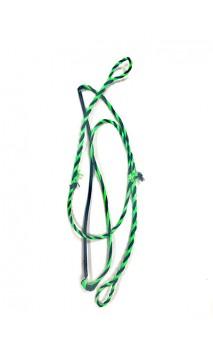 """Corda intrecciata Nero / Verde LONG 43,75"""" ONEIDA EAGLE BOWS"""