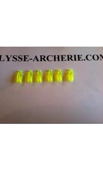 Encoche Classique à Coller Marco Nocks 5/16 Fluo Green (vert) - Ulysses archery - equipment - accessorie -