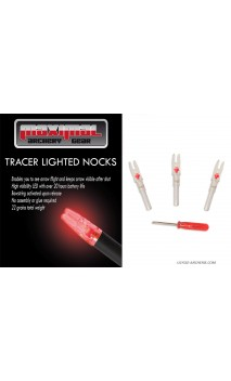 "Tracer Lighted Nocks type ""S"" MAXIMAL ARCHERY - Ulysses archery - equipment - accessorie -"