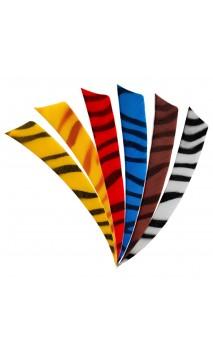 "Natürliche Feder 4"" Zebra Shield BEARPAW - ULYSSES ARCHERY - Ulysses Bogenschießen"