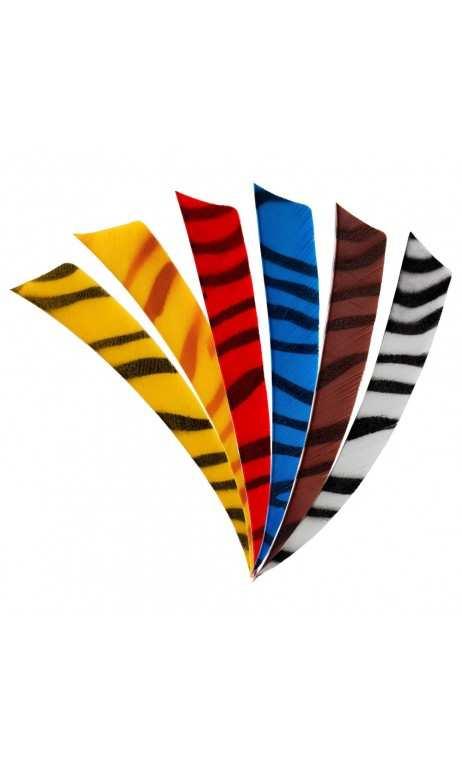 """Naturale della piuma di 4"""" Shield Zebra BEARPAW - Tiro con l'arco di Ulisse - ULISSE TIRO CON L'ARCO -"""