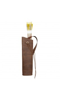 Traditional back quiver CRAZY HORSE BEARPAW - Ulysses archery - equipment - accessorie -