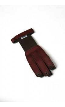 Brauner Wildleder- und Lederhandschuh NEET ARCHERY