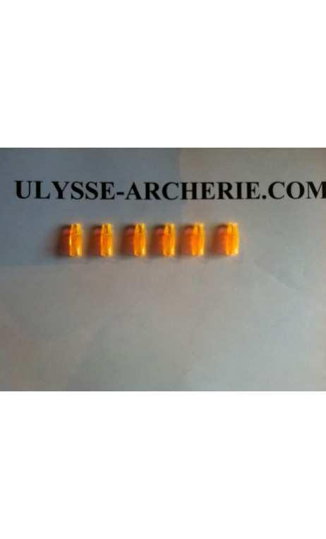 Encoche à Coller Marco Nocks 5/16 Fluo Orange - Tiro con l'arco di Ulisse - ULISSE TIRO CON L'ARCO -