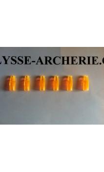 Encoche à Coller Marco Nocks 5/16 Fluo Orange  - ULYSSE ARCHERIE
