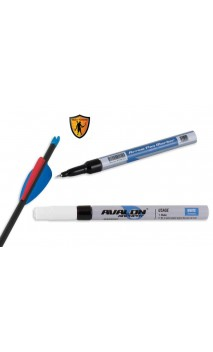 stylo marqueur blanc pour flèche AVALON ARCHERY - Tiro con l'arco di Ulisse - ULISSE TIRO CON L'ARCO -