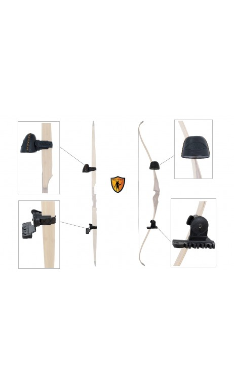 Carquois d'arc traditionnel en cuir noir BUCK TRAIL equipment for your hunting bow for traditional, instinctive, 3D shooting.