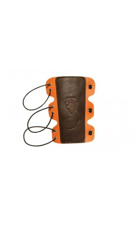 Protège bras en cuir 2 tons LUX OLD TRADITION - ULYSSE ARCHERIE