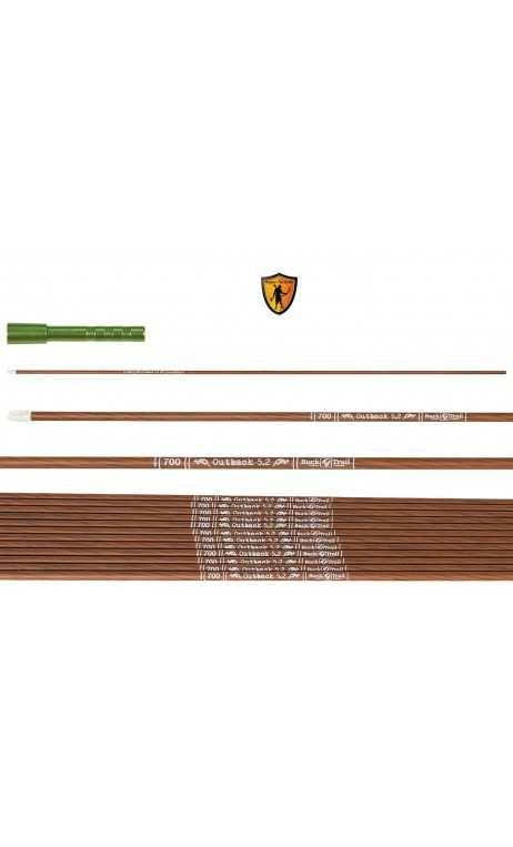 Flèche carbone OUTBACK 5.2 BUCK TRAIL ARCHERY - ULYSSE ARCHERIE