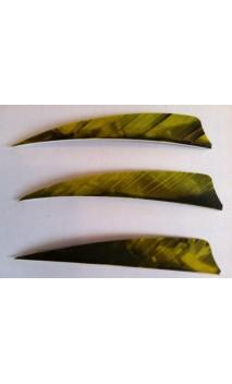 """Plumes Naturelles Shield 4"""" Camo Yellow - Tiro con l'arco di Ulisse - ULISSE TIRO CON L'ARCO -"""