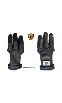 The BUCK TRAIL Dark Leather Archery Glove with Cordura Reinforcement - Ulysses archery - equipment - accessorie -