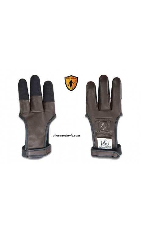 Le gant de tir à l'arc en cuir marron Ambre avec renfort en Cordura BUCK TRAIL - ULYSSE ARCHERIE