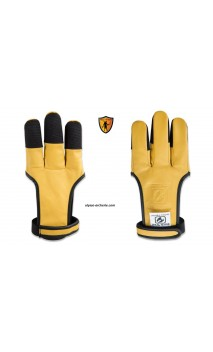 The BUCK TRAIL sand yellow leather archery glove (SAND) with Cordura reinforcement - Ulysses archery - equipment - accessorie -