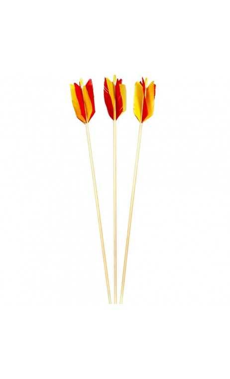 Conjunto de 12 flechas tradicionales de abeto Flu-Flu 11-32 BEARPAW PRODUCTS - ARQUERÍA DE ULYSSE - ULISES CON ARCO