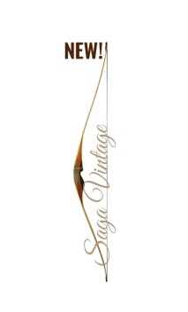 "Longbow hybrid bow SAGA VINTAGE 65"" FALCO ARCHERY - Ulysses archery - equipment - accessorie -"