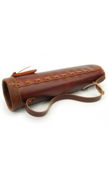 artisanal rigid leather back quiver HOWARD HILL ARCHERY