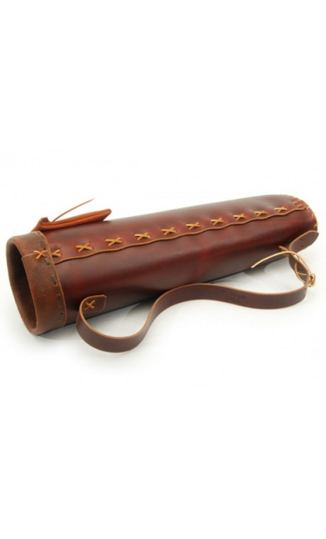 artisanal rigid leather back quiver HOWARD HILL ARCHERY - Ulysses archery - equipment - accessorie -