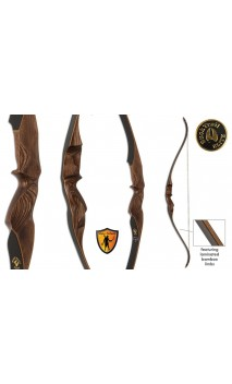 "Arc Recurve chasse MERIDIAN Brown 62"" BUCK TRAIL ELITE"